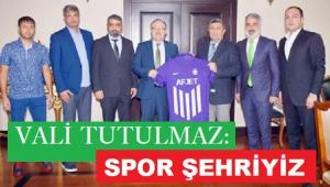 AFJET AFYONSPOR'DAN VALİ'YE ZİYARET