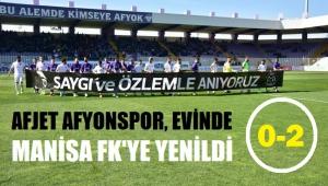 AFJET AFYONSPOR, EVİNDE MANİSA FK'YE YENİLDİ