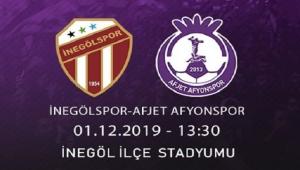 AFJET AFYONSPOR'UN RAKİBİ İNEGÖLSPOR