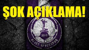 AFJET AFYONSPOR YÖNETİMİNDEN ŞOK AÇIKLAMA!..