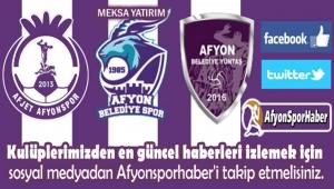 AFYONSPORHABER'İ SOSYAL MEDYADAN TAKİP EDİN...