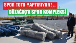 DÜZAĞAÇ BELDESİNE 500 BİN TL'LİK SPOR KOMPLEKSİ YAPILIYOR