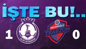 AFJET AFYONSPOR, RAYINA GİRDİ!.. 1-0