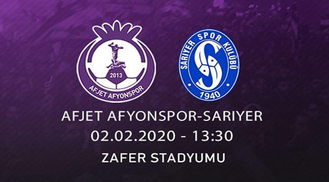 AFJET AFYONSPOR'UN BU HAFTAKİ RAKİBİ SARIYER!..