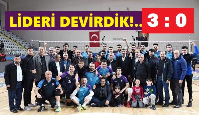 LİDERİ DEVİRDİK!.. 3-0