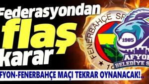 AFYON-FENERBAHÇE BASKET MAÇI TEKRAR EDİLECEK!..