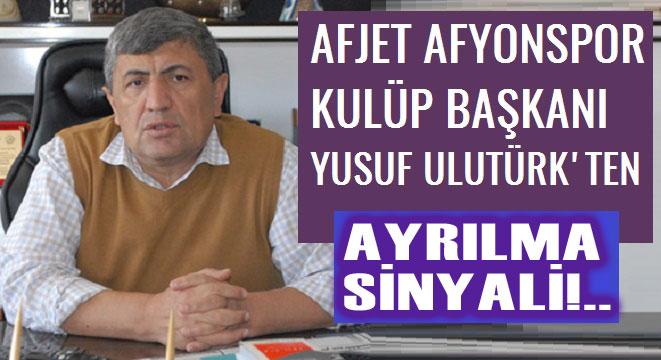 BAŞKAN ULUTÜRK'TEN ŞOK AÇIKLAMA!..