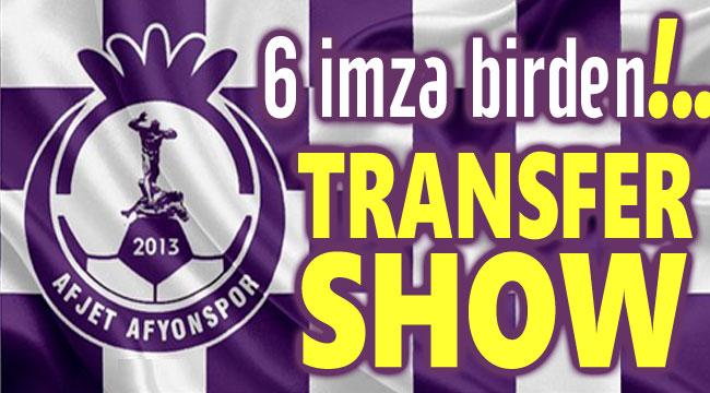 6 İMZA BİRDEN: AFJET AFYONSPOR'DA TRANSFER ŞOV!