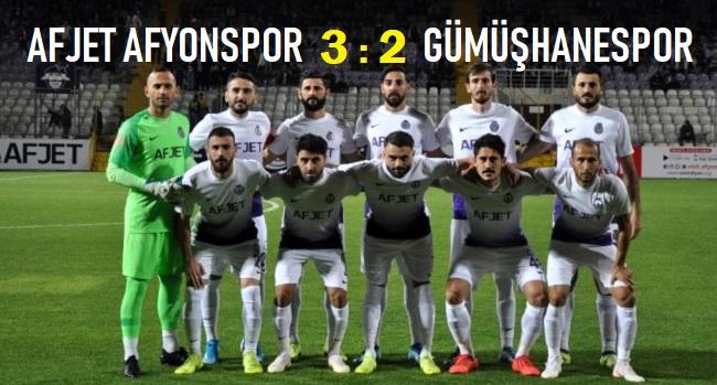 AFJET AFYONSPOR, GÜMÜŞHANESPOR'U 3-2 MAĞLUP ETTİ