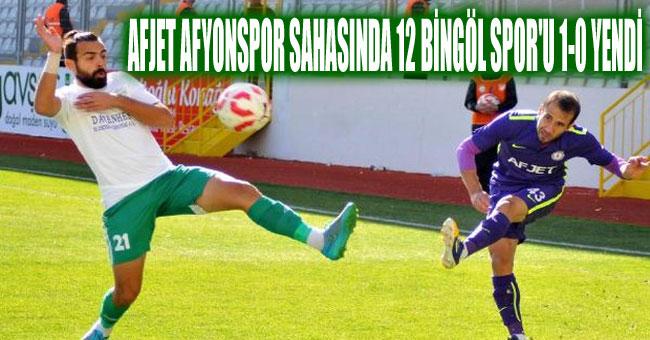 AFJET AFYONSPOR SAHASINDA 12 BİNGÖL SPOR'U 1-0 YENDİ