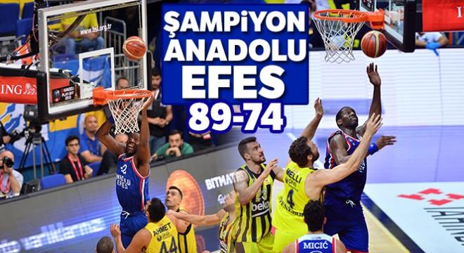 ANADOLU EFES ŞAMPİYON OLDU