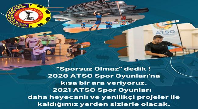 ATSO SPOR OYUNLARI, SALGIN DOLAYISIYLA ERTELENDİ