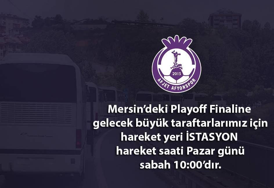 MERSİN'E HAREKET, PAZAR GÜNÜ SABAH 10:00'DA