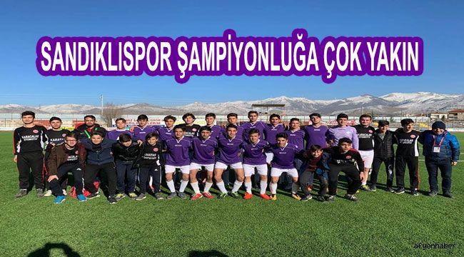 SANDIKLISPOR U17'DE ŞAMPİYONLUĞA ÇOK YAKIN
