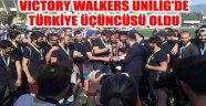 AKÜ, VICTORY WALKERS UNİLİG'DE TÜRKİYE ÜÇÜNCÜSÜ OLDU