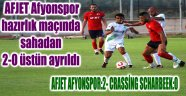 AFJET AFYONSPOR:2- CRASSİNG SCHARBEEK:0