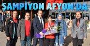 DÜNYA ŞAMPİYONU KARATECİ AFYON'DA