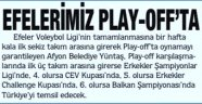 İŞTE EFELER'İMİZİN AVRUPA KUPALARI ŞANSI!..