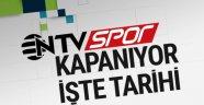 NTV SPOR, CUMARTESİ GÜNÜ KAPANIYOR