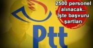 PTT, 2500 PERSONEL ALACAK, İŞTE ŞARTLARI!..