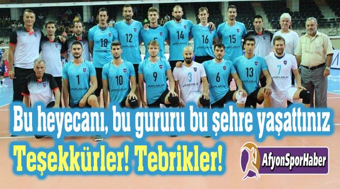 BU HEYECANI AFYON'A YAŞATTIĞINIZ İÇİN TEŞEKKÜR EDERİZ!..