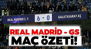 REAL MADRİD:6 GALATASARAY:0 MAÇI ÖZETİ