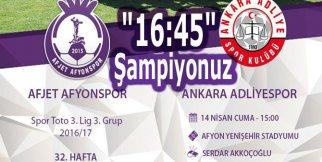 Afjet Afyonspor-Adliyespor (Şampiyonluk Maçı Özeti)