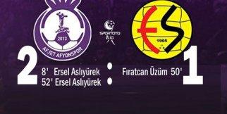 Afjet Afyonspor 2-1 Eskişehirspor maç özeti